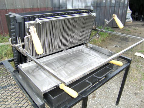 Barbecue vertical charbon - Grille de barbecue en inox ...